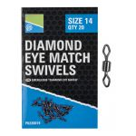 Krętliki Preston Diamond Eye Match Swivels - roz. 10