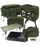 BOX ze stolikiem NGT Deluxe Anglers Two Tier PLUS